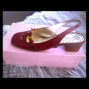 Juicy Couture Italian red soft patent leather